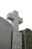 Granite cross on a white background Royalty Free Stock Image