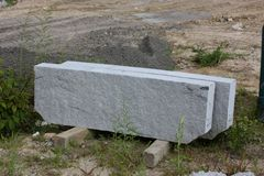 Granite curbstones Royalty Free Stock Photography