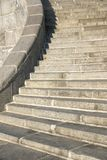 Granite curve stairs with handrail Stock Photos