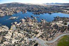 Granite Dells. Aerial view of Granite Dells, Prescott, Arizona Royalty Free Stock Images