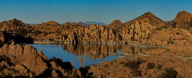 Granite dells reflect stock photography
