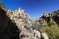 Granite Dells. Wide angle view of rock formations in the Granite Dells near Prescott, Arizona Stock Images