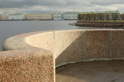 The granite embankment in the city. Royalty Free Stock Image