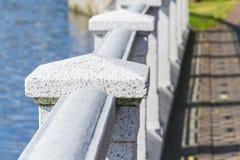 Granite embankment fence Stock Photo