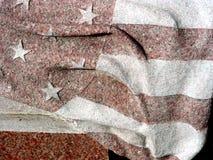 Granite Flag. American Flag in granite Stock Image