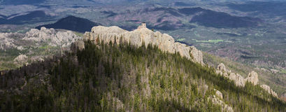 Granite formations in the Black Hills Stock Images