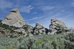 Granite Formations in the City of Rocks Royalty Free Stock Image