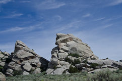 Granite Formations in the City of Rocks Royalty Free Stock Photo