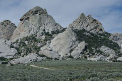 Granite Formations in the City of Rocks Royalty Free Stock Photos
