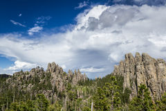 Granite formations in South Dakota Royalty Free Stock Images