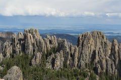 Granite formations in South Dakota Stock Photo