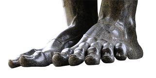 Granite Giant Feet Isloated Royalty Free Stock Images