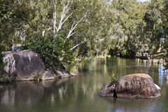 Granite Gorge near Mareeba view of river Stock Images