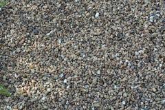 Granite gravel. Pea gravel made of natural granite broken up stock photo