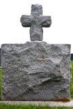 Granite Gravestone. Gravestone made of granite in nice gray color on top is a crossa stock photography