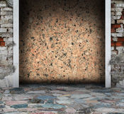 Granite grunge interior with columns Royalty Free Stock Image