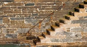Free Granite Harbour Wall Steps Stock Images - 125466124