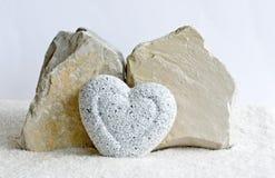 Granite heart Stock Photos