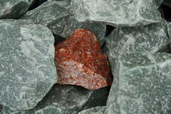Granite hematite fragment Royalty Free Stock Photos
