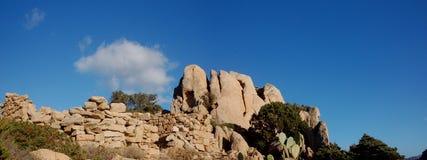 Granite hill in Sardinia Stock Photo
