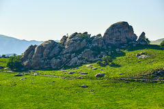 The granite on the hillside Royalty Free Stock Photography