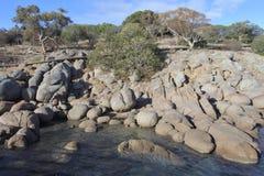 Granite Island Victor Harbour South Australia. Boulders at Granite Island a small island next to Victor Harbor in South Australia State, Australia stock photos
