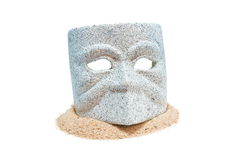 Granite mask-1 Royalty Free Stock Photography