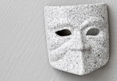 Granite mask mono Stock Image