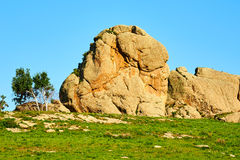 The granite megalith in the park Royalty Free Stock Image