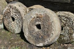 Granite Mill Stones. Royalty Free Stock Image