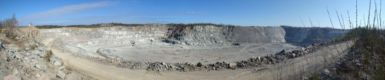 Granite mine in Karelia. Near Kuznechnoe and Yastrebinoe lake Stock Images