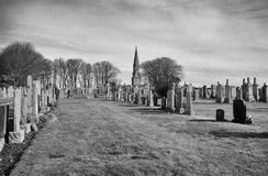 Culsh monument and commonwealth graveyard in new deer aberdeenshire scotland Royalty Free Stock Image