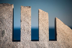 Granite monument to Swiss Air 111 royalty free stock photos