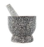 Granite mortar Royalty Free Stock Image