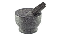 Granite Mortar and Pestle Royalty Free Stock Images