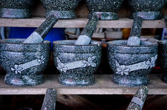 Granite Mortar and Pestle Royalty Free Stock Photos