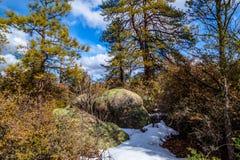 Granite Mountain Wilderness of Prescott in Arizona stock photo