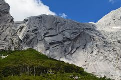 Granite mountains in the Cochamó Valley, Lakes Region of Southern Chile.