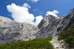 Granite mountains in the Cochamó Valley, Lakes Region of Southern Chile. The Cochamó valley in Chile`s Lakes region Los Lagos offers spectacular mountain Stock Photos