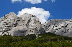 Granite mountains in the Cochamó Valley, Lakes Region of Southern Chile. The Cochamó valley in Chile`s Lakes region Los Lagos offers spectacular mountain Royalty Free Stock Photography