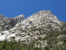 Granite mountains in Kings Canyon National Park Royalty Free Stock Photography