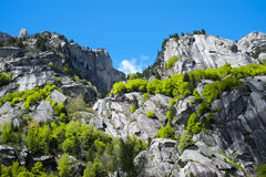 Granite mountains in Val di Mello Royalty Free Stock Image