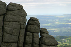 Granite outcrop. Haytor Rocks Tor, Dartmoor, UK Stock Image