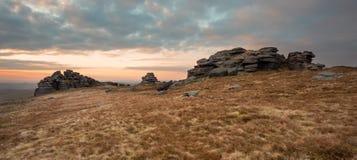 Great Mis Tor Dartmoor. Granite outcrop on Great Mis Tor Dartmoor National Park Devon Uk Stock Photo