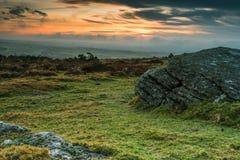 Granite outcrop rock in Dartmoor,UK Stock Photography