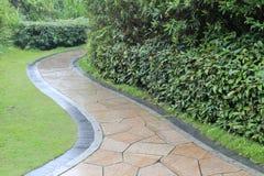 Granite path in the rain Royalty Free Stock Images