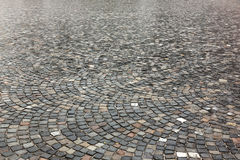 Granite pavement after rain Royalty Free Stock Photography