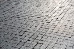 Granite pavement royalty free stock images