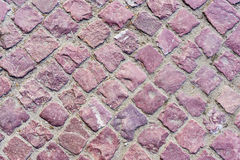 Granite pavers. The red granite pavers background Royalty Free Stock Images