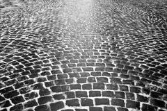 Granite paving Stock Photo